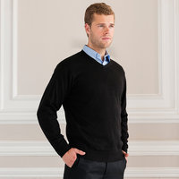 Russell V-neck knitted sweater