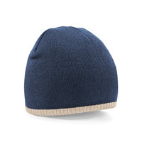 Two-tone pull on beanie