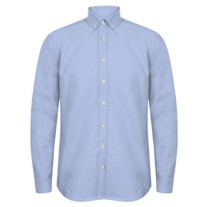 Henbury Modern Long Sleeve Classic Fit Oxford Shirt Thumbnail