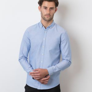 Henbury Modern Long Sleeve Slim Fit Oxford Shirt Thumbnail