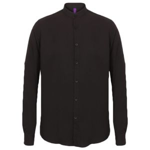 Henbury Mandarin Roll Sleeve Anti-Bac Wicking Shirt Thumbnail