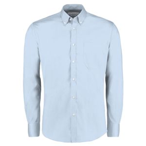 Kustom Kit Premium Long Sleeve Slim Fit Oxford Shirt Thumbnail