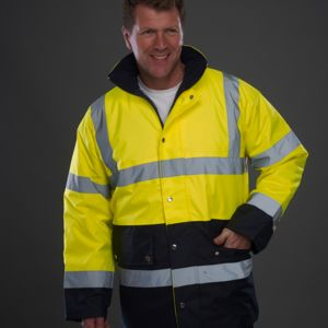 Yoko Hi-Vis Two Tone Motorway Jacket Thumbnail