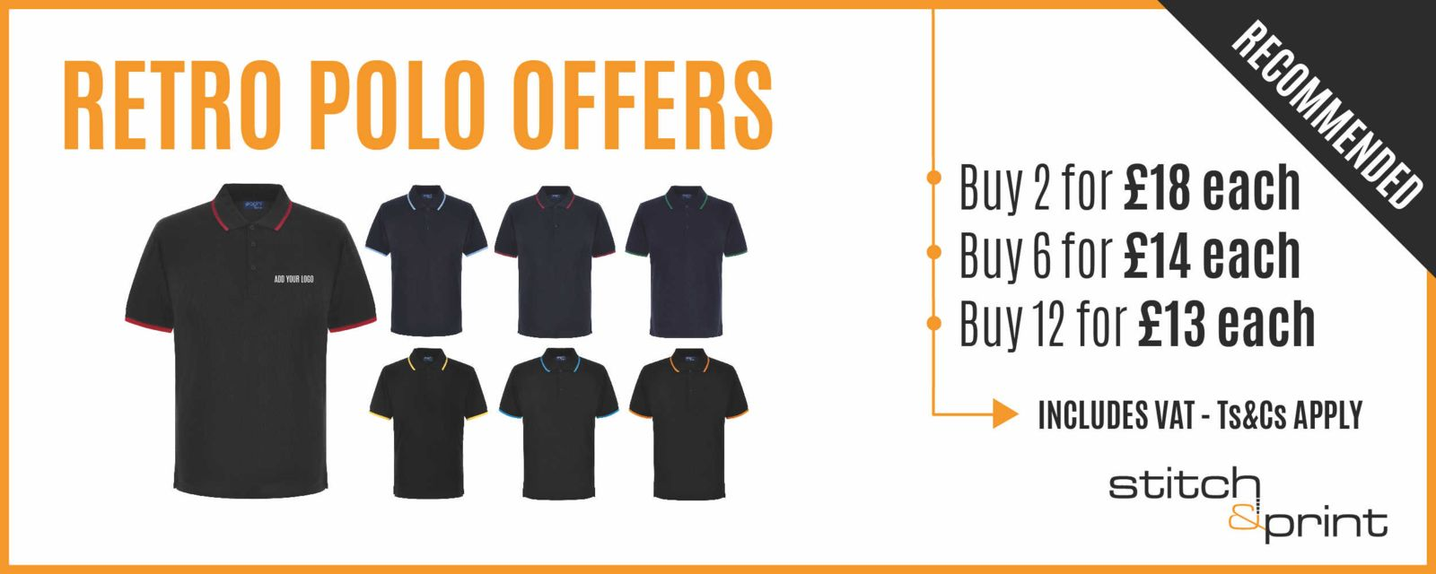 Embroidered Polo Shirt Offer