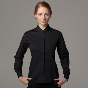 Women's Bar Blouse Mandarin Collar Long Sleeve Thumbnail