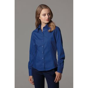 Women's corporate Oxford blouse long sleeved Thumbnail