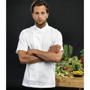 Culinary pull-on chef's short sleeve tunic Thumbnail