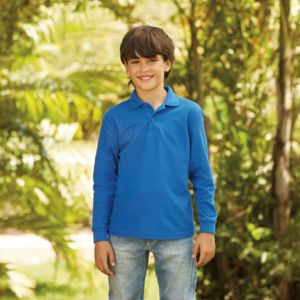 Fruit Loom Kids L/S Polo Thumbnail
