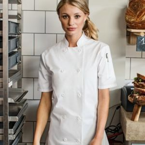 Premier Ladies Short Sleeve Chef's Jacket Thumbnail