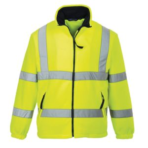 Hi-vis mesh lined fleece (F300) Thumbnail