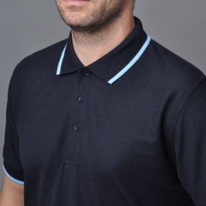 Retro style Polo Shirts with Contrast Trim by Papini: Thumbnail